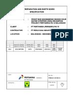 Spesification For Earth work (IFD rev 1) SWS Balongan