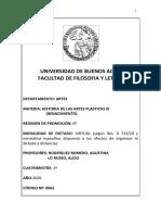 Historia de las Artes Plásticas III (Renacimiento) - 2020