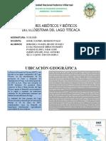 Factores bióticos y abióticos en el Lago Titicaca