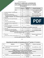 PLAN DE FORMATION 1è-2è-3è année