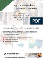 Manejo de materiales y gestión de almacenamiento