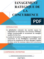 MANAGEMENT STRATEGIQUE DE LA CONCURRENCE