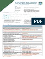 Scudder Falls Brudge Fact Sheet Handout