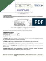 Ficha técnica SYNERB ALGAS