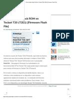 Cómo instalar Stock ROM en Teclast T20 (T2E1) [Firmware Flash File]