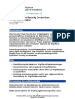 Web Application Security Consortium - Threat Classification