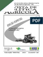 70 ANOS DE POLITICA AGRICOLA
