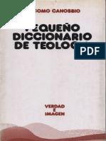 CANOBBIO, G., Pequeño Diccionario de Teologia, 1992.pdf