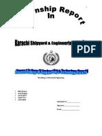 NDT Intenship Report on Karachi Shipyard & Engineering Works