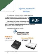 Informe Pruebas De Modems Comtrend