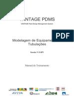 PDMS - modelagem de equipamentos e tubulações