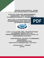 LAS 7 CLAVES DEL MARKETING ALIMENTARIO EN LA PERMANENTE B ATALLA POR LA DIFERENCIACION