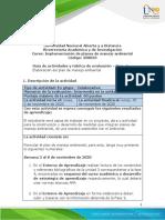 Guia de actividades y Rúbrica de evaluación - Fase 4 - Elaboración del plan de manejo ambiental