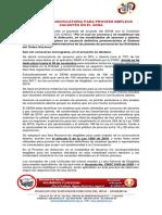 03SE ACERCA CONVOCATORIA PARA PROVEER EMPLEOS