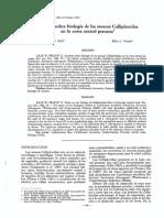Apuntes sobre biologia de las rnoscas Calliphoridae en la costa central peruana