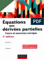 Équations aux dérivées partielles - Cours et exercices corrigés - Dunod.pdf