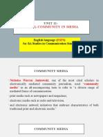Unit 11  Local community in media  .pptx