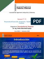 Clase 5 - Proyección del mercado- Prospectiva- Tamaño - Localización