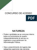 CONCURSO DE ACESSO