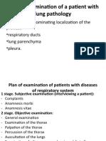 7. Examination at lung pathology