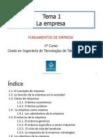 Tema1 La Empresa