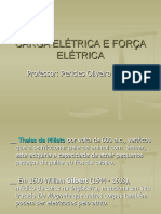 CARGA ELÉTRICA E FORÇA ELÉTRICA