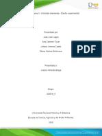 Unidad 2 - Tarea 3 - Actividad intermedia - Diseño experimental