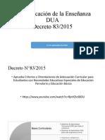 Diversificación de la Enseñanza y decreto 83