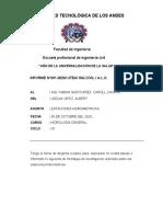TRABAJO DE INVESTIGACION DE ESTACIONES HIDROMETRICAS.