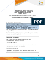 Guía de actividades y rúbrica de evaluación - Unidad 2 - Tarea 4 - Determinar la estructura del plan de marketing