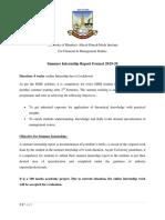 ADMIS Summer Internship Report Format 2019-20