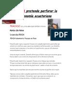 PDVSA pretende perforar la economía ecuatoriana