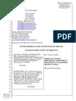 Trump AZ Lawsuit - Maricopa County Defendants Re