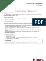narrative assessment task sheet 2020