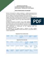 SISTEMA INTERNACIONAL DE UNIDADES