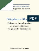 [Collège de France] Stéphane Mallat - Sciences des donnees et apprentissage en grande dimension 276