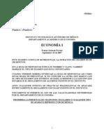 1er. Examen Parcial  Eco I A-D 07