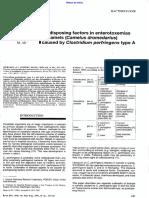 Factors predisponing enterotox camelid