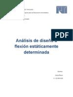 analisis y diseño de secciones a flexion estaticamente determinadas
