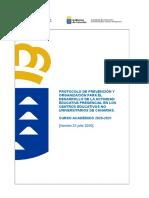 Protocolo Covid 19 Centros Educativos 23072020