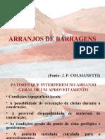 Arranjos de barragens_Colmanetti