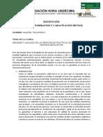 RESUMEN Y ANÁLISIS DE LAS PRINCIPALES PRÁCTICAS DE BIOSEGURIDAD EN CENTROS EDUCATIVOS