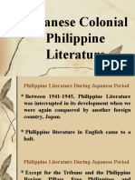Japanese Colonial Philippine Literature
