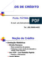 II - Aula 1 - Noção de Crédito - Título de Crédito.ppt