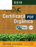 Guia Certificação Orgãnica INT Online 2018