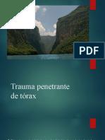 Trauma penetrante de tórax