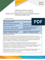 Formato-Syllabus del curso Diplomado en Construcción de Redes Sociales de Comunicación