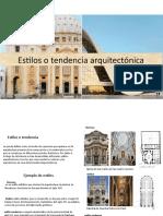 Estilos o tendencia arquitectónica teoria 2