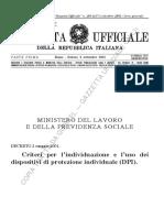 Criteri Per l'Individuazione e l'Uso Dei Dispositivi Di Protezione Individuale (DPI)