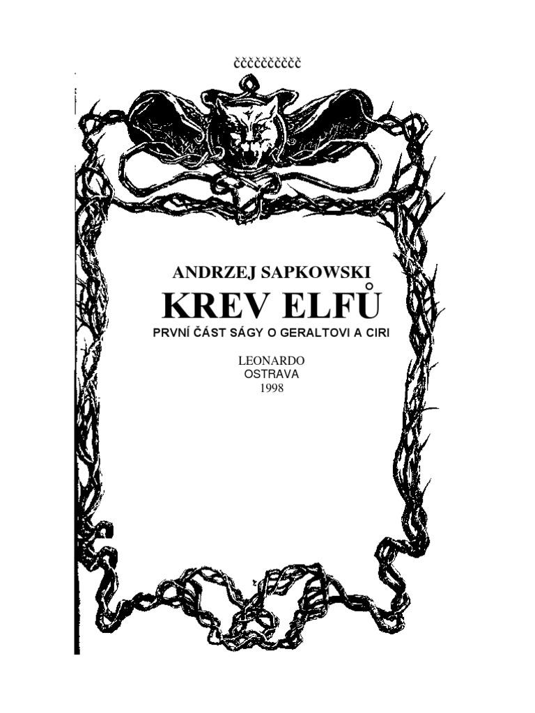 68490ff2a Saga o zaklinaci I - Krev elfu - Adrzej Sapkowski